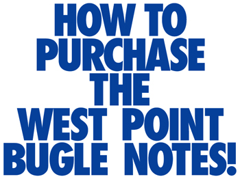 How to purchsse the West Point Bugle Notes book